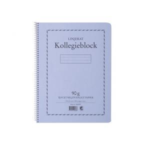 Kollegieblock A4, linjerat, 90g, 5st