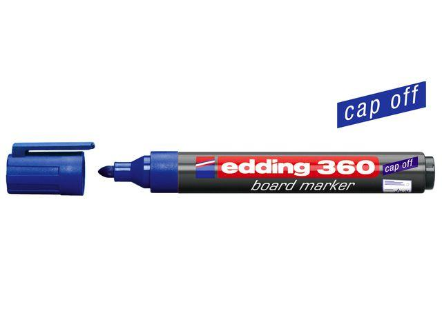Whiteboardpenna EDDING 360 Blå, torksäker, konisk, 10st 10st