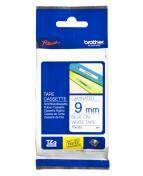 Märkband Brother TZe223, blå/vit, 9mm