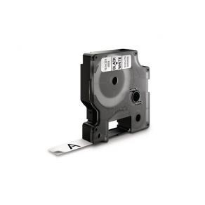 Tape DYMO D1 12mm x 7m sort/hvit