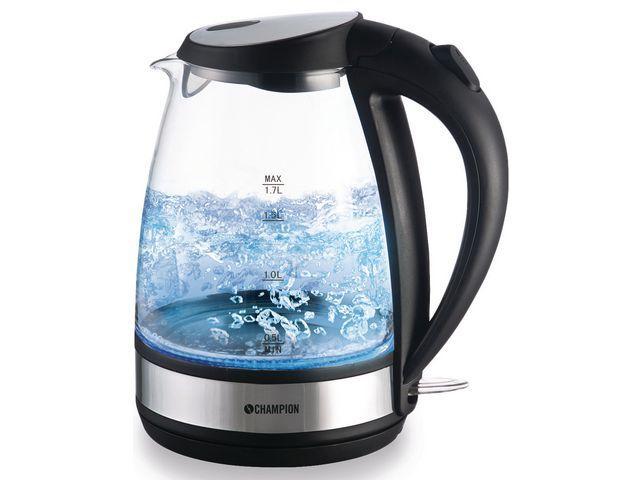 Underbar Vattenkokare CHAMPION Glas, 1,7 Liter, endast 210 kr LT-01