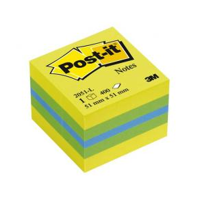 Post-It Kub Mini Lemon, 51x51mm, 400 blad