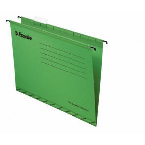 Hängmapp Foolscap Esselte Grön, 365x240mm, papp, 25st