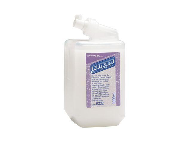 Tvål Kleenex Hår- & Kroppsschampo, 1L, 6st 6st
