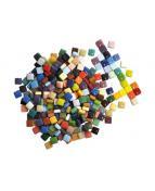Porslinsmosaik, blandade färger