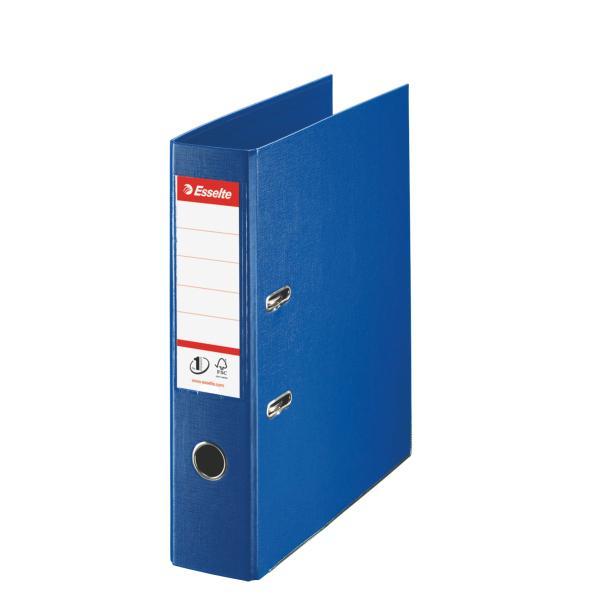 Gaffelpärm Plast Esselte A4 Blå, EU-hålning, 75mm