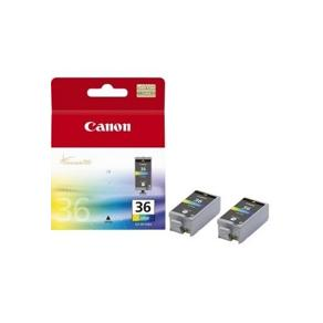 Canon CLI-36 Twin Pack - 2-pack - färg (cyan,