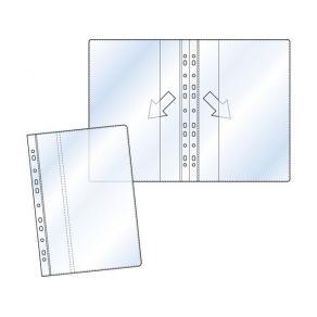 Plastficka Dubbelvikt A4, transparent, 0,12mm, 25st