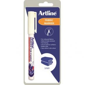Textilpenna Artline EKC-1 Fabric vit 1-blister