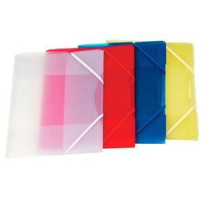 Snoddmapp PP Plast A4, 3-klaff, Transparent Vit, 10st
