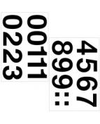 Herma etikett siffror 0-9 33mm svart