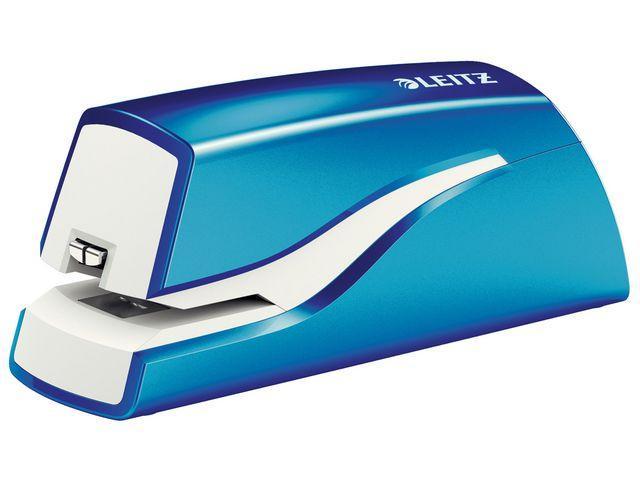 Elhäftare Leitz batteri WOW blå, 10ark