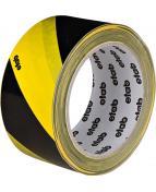 Varningstejp gul/sva 50mmx33m