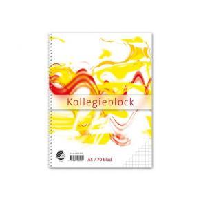 Kollegieblock A5, rutat, 70g, 5st