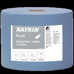 Industritorkrulle KATRIN Plus L2 Blå, 2-lag, 350m, 2rl/fp