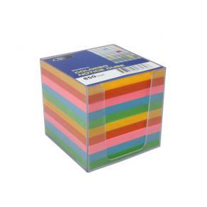 Blockkub, färgat papper, inklusive hållare