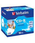 CD-R AZO, 52X, Wide Printable (10)