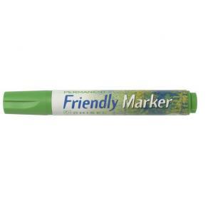 Märkpenna Friendly Marker Grön, sned, 2-5mm, 10st