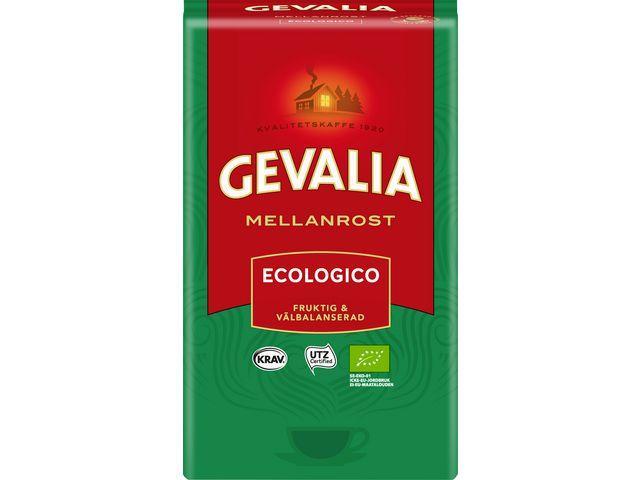 Kaffe GEVALIA Ecologico mellanrost, KRAV, 450g