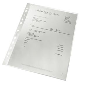 Plastficka Recycled A4, glasklar, 0,09mm, 100st