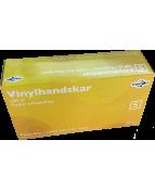 Vinylhandskar S, puder- & ftalatfri, 100-pack