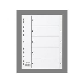 Pärmregister Plast A4 1-5 Vit