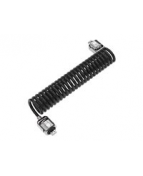 Compulocks Dual Head Coiled Cable Keyed Lock - Lås för