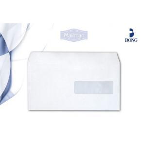 Kuvert E65 H2-Fönster Självhäftande, vit, 80g, 500/fp
