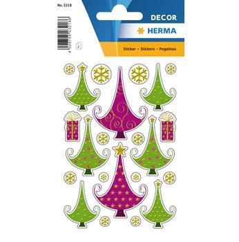 Herma stickers Decor julgran (3) 10st