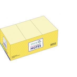Notis Stick´n Notes Gul, 38x50mm, 12st