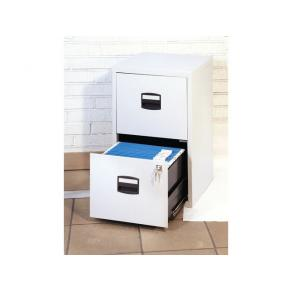 Hängmappsskåp BISLEY Ljusgrå, 2 lådor, 413x672x400mm