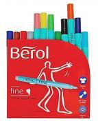 Fiberpenna BEROL Colourfine 12 färger