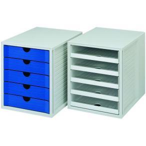 Blankettbox HAN 5 lådor recy svart
