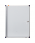 Glasskåp NOBO extra tunt magnetisk 4xA4