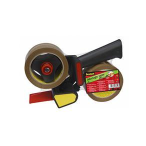 Packtejpshållare SCOTCH + 2st Packtejp PP Acryl Brun, 50mm