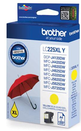 Brother LC225XLY - Gul - original - bläckpatron
