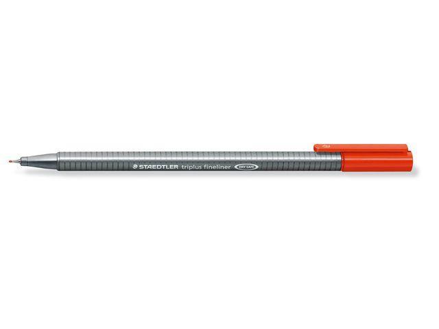 Fiberpenna STAEDTLER Triplus Röd, 0,3mm, 10st 10st