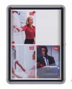 Glasskåp NOBO utomhusbruk magnetisk 4xA