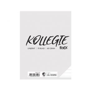 Kollegieblock A5 60g 70 blad linjerat