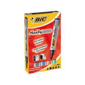Märkpenna BIC 2000, 4 färger, permanent, 2000/fp