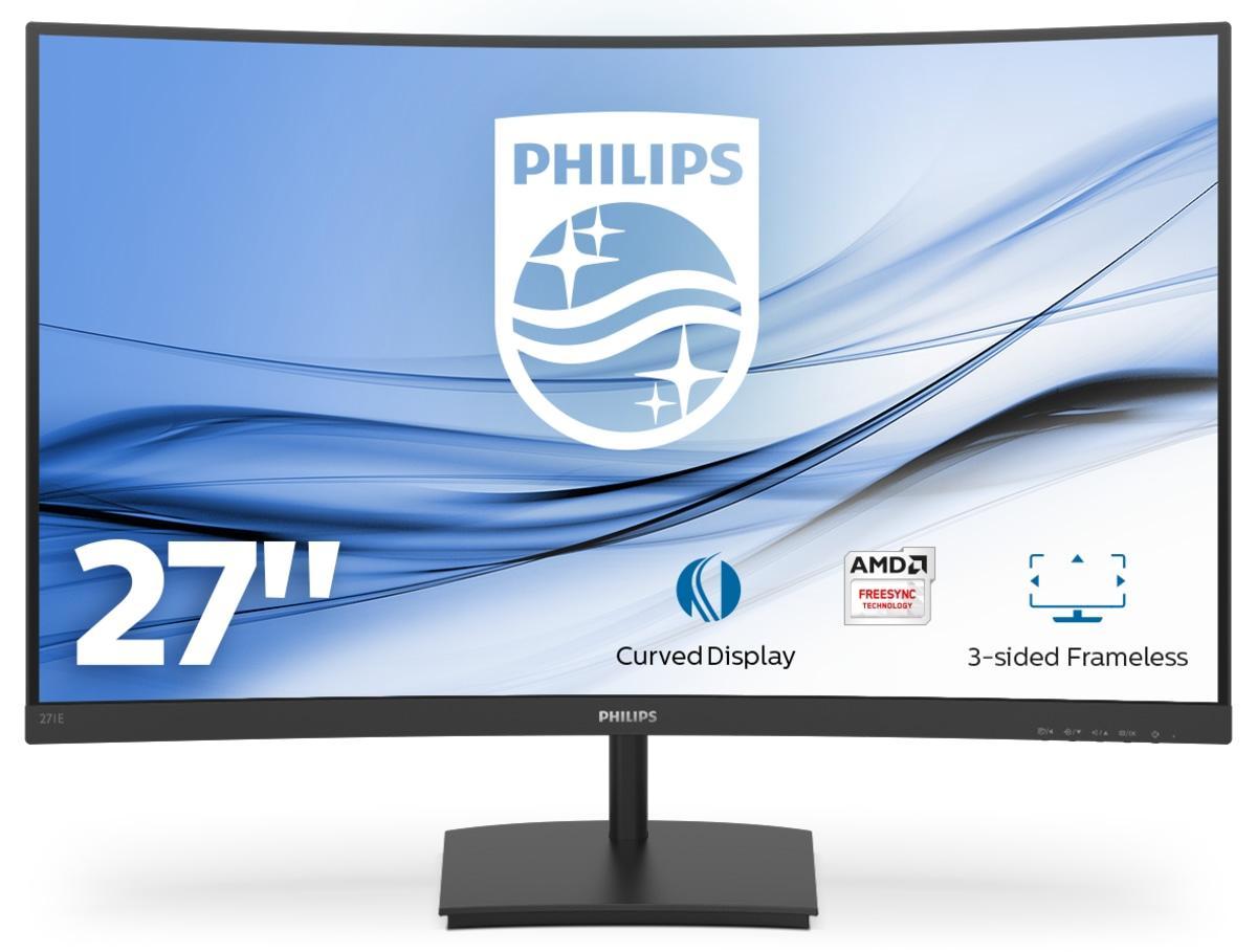 "Philips E-line 271E1SCA - LED-skärm - böjd - 27"" - 1920 x 1080"