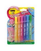 UHU Glitter Glue Shiny 6 färg