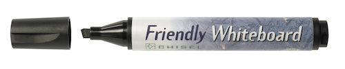 Whiteboardpenna FRIENDLY Svart, sned, 10st 10st