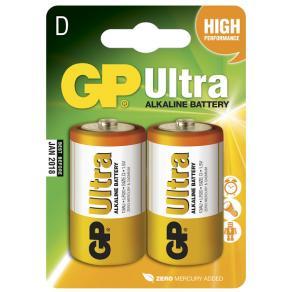 Batteri GP Ultra Alkaline LR20/D, 1,5V, 2/fp