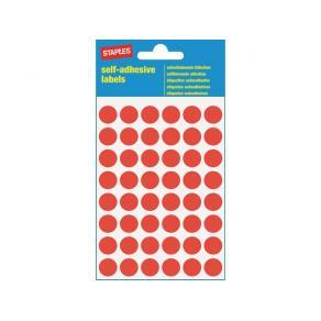 Etikett STAPLES 12mm röd 240/FP