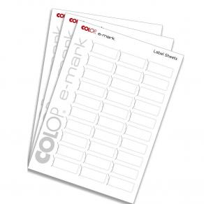 Etiketter COLOP e-mark, 18x48mm, 300st