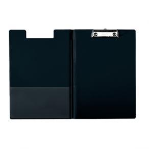 Skrivplatta med omslag och klämma A4 svart