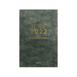 Lommekalender GRIEG Gemini 2022 Colore kunstskinn grønn