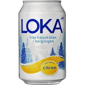 Mineralvatten & Läsk - Dricka LOKA citron burk 33cl
