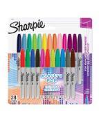 Sharpie Fine Electro Pop Ass.Blister-24